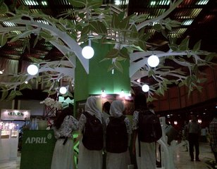APRIL booth at Jakarta Forestry Exhibition