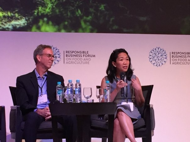 APRIL Group's Sustainability Director, Lucita Jasmin, speaks at Responsible Business Forum Jakarta